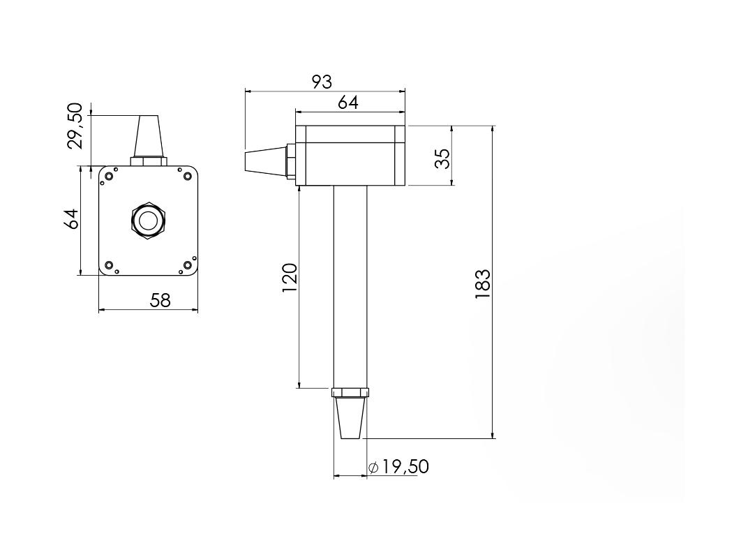MODBUS Nem ve Sıcaklık Sensörü 1